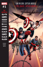 Generations: Sam Wilson Captain America & Steve Rogers Captain America (2017) #001